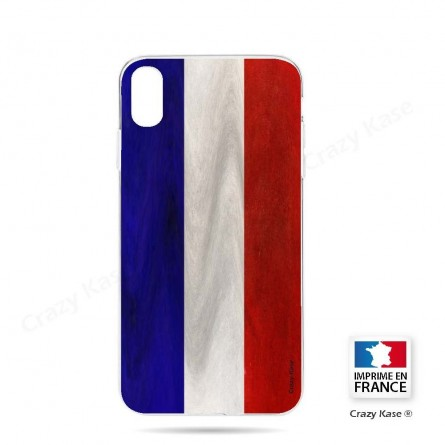 Coque iPhone Xr souple Drapeau Français Vintage- Crazy Kase