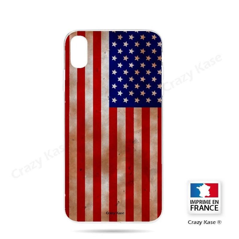 Coque iPhone Xr souple motif Drapeau Américain - Crazy Kase