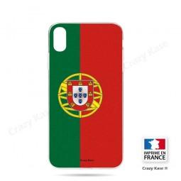 Coque iPhone Xr souple motif Drapeau Portugais - Crazy Kase