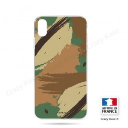 Coque iPhone Xr souple motif Camouflage - Crazy Kase