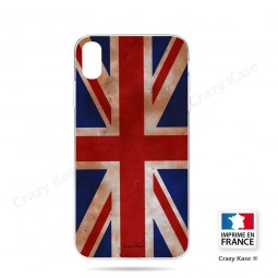 Coque iPhone Xr souple motif Drapeau UK vintage - Crazy Kase