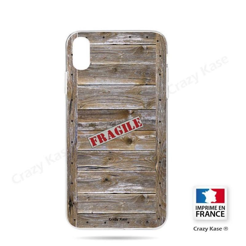 Coque iPhone Xr souple effet Caisse en bois - Crazy Kase