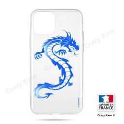 Coque compatible iphone 11 souple Dragon bleu - Crazy Kase