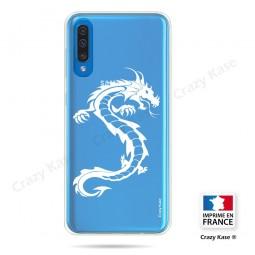 Coque compatible Galaxy A50 souple Dragon Blanc - Crazy Kase