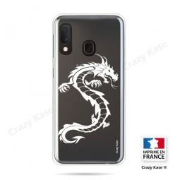 Coque compatible Galaxy A20e souple Dragon Blanc - Crazy Kase