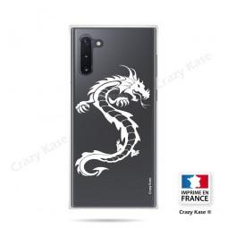 Coque compatible Galaxy Note 10 souple Dragon Blanc - Crazy Kase