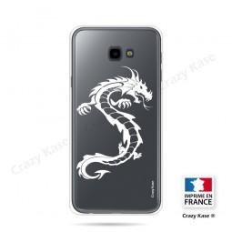 Coque compatible Galaxy J4 Plus souple Dragon Blanc - Crazy Kase