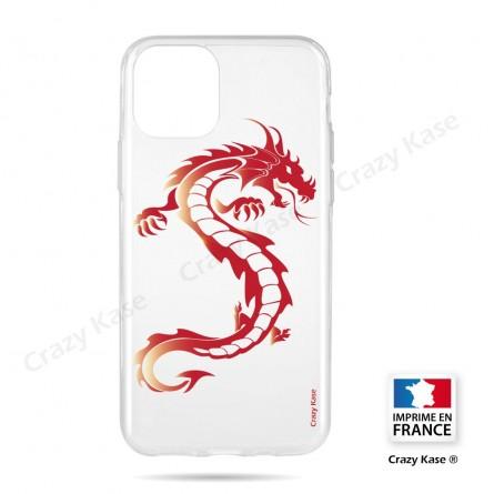 Coque compatible iphone 11 souple Dragon rouge- Crazy Kase
