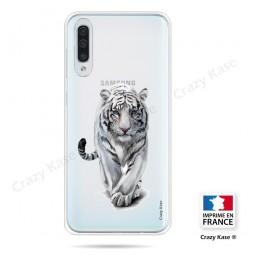 Coque compatible Galaxy A50 souple Tigre blanc - Crazy Kase