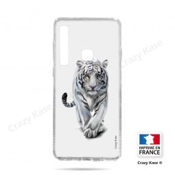 Coque compatible Galaxy A9 (2018) souple Tigre blanc - Crazy Kase