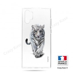 Coque compatible Galaxy Note 10 Plus souple Tigre blanc - Crazy Kase