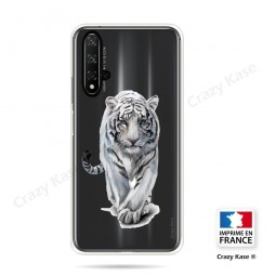 Coque compatible Honor 20 souple Tigre blanc - Crazy Kase