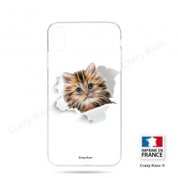 Coque iPhone Xr souple motif Chat trop mignon - Crazy Kase